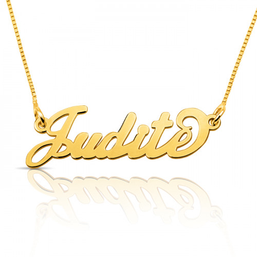 18k gold plated silver name necklace