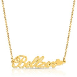 heart name  necklace in 18k gold plated silver * 15% OFF WITH CODE:  sale1 *