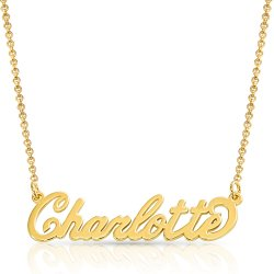 Name Necklace 18K Gold Plating on Silver * 15% OFF WITH CODE:  sale1 *