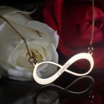 Gold Plated Engraved Infinity Name Necklace