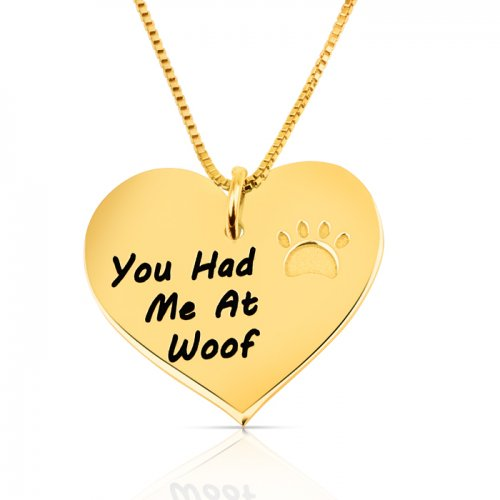 Cute gold plated heart pendant  for animal lovers
