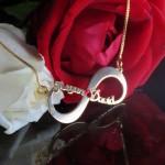 Infinity Necklace With 2 Names & Swarovski Birthstone