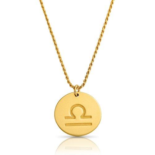 zodiac necklace in gold plating: Libra