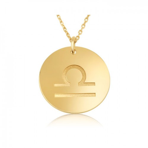 zodiac necklace in gold plating: Libra