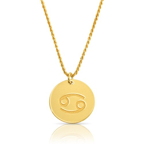 zodiac necklace in gold plating:Cancer