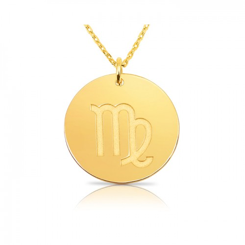 zodiac necklace in gold plating:Virgo