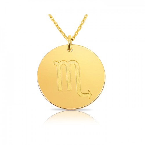 zodiac necklace in gold plating:Scorpio