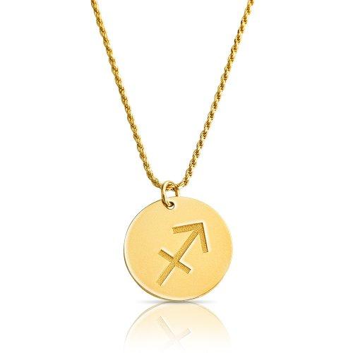 zodiac necklace in gold plating: Sagittarius