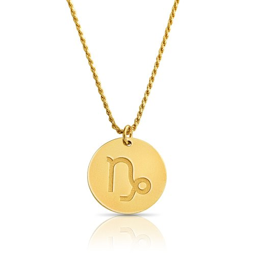 zodiac necklace in gold plating: Capricom
