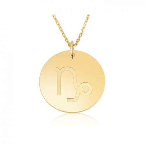 zodiac necklace in gold plating: Capricom
