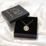 gold plated zodiac pendant :Gemini