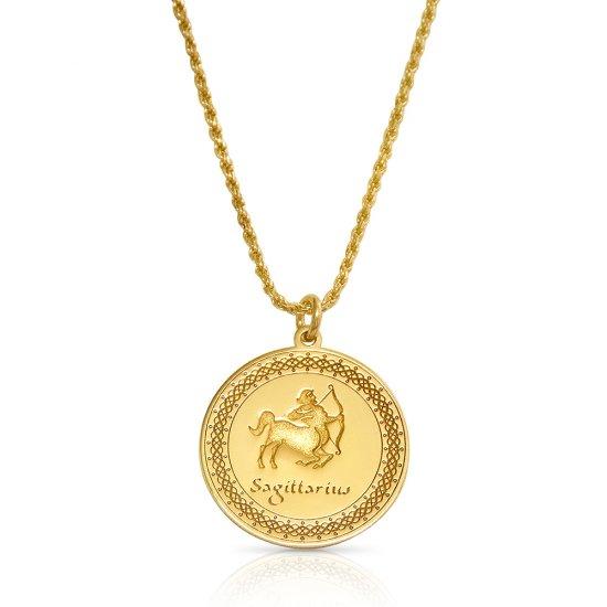 Gold Plated Zodiac Pendant : sagittarius