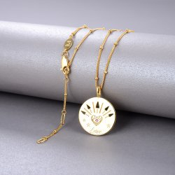 gold love amulet necklace