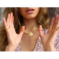 gold love amulet necklace