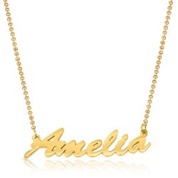 personalized name necklace - 18k gold plated
