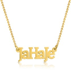 gold plated name necklace -  mixed letters