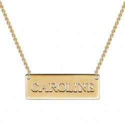 Cutout Name Bar Necklace