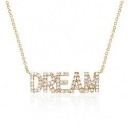 capital letters name necklace with sparkling cubic zirconia