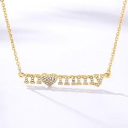 cubic zirconia mom necklace