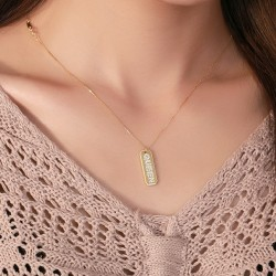 Queen necklace in 18k gold plated silver and cubic zirconia