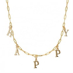 Name choker in gold plating