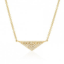 Triangle necklace 18k gold plated silver and zircon stones