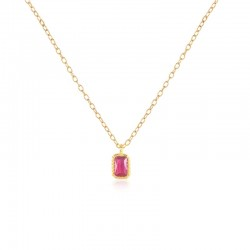 Sterling Silver Square Cubic Zirconia Pendant
