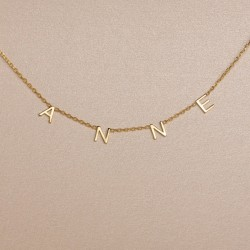 Name choker necklace in 925 sterling silver