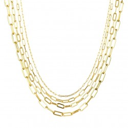 925 Sterling silver link chain with 18k gold plating