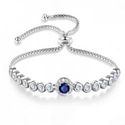 tennis bracelet with cubic zirconia