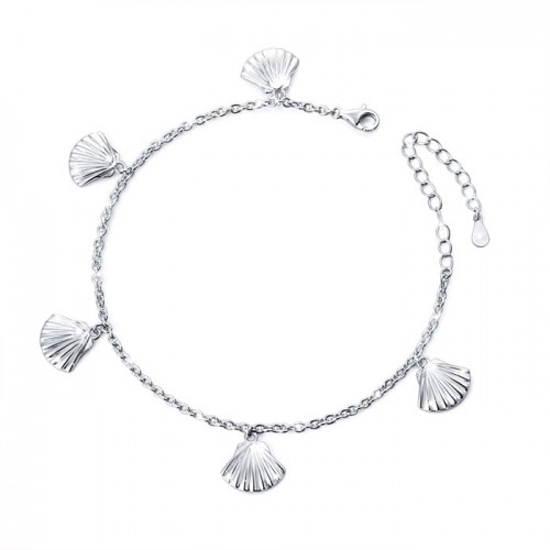 seashell bracelet in 925 sterling silver