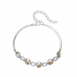 elegant silver bracelet with crystals from swarovski