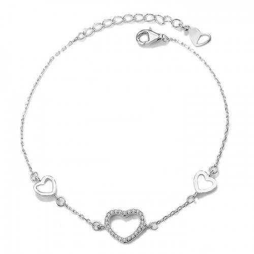 Hearts sbracelet for girls with cubic zirconia