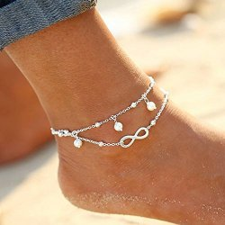 Infinity beach anklet 925 sterling silver