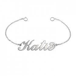 name bracelet in 925 sterling silver