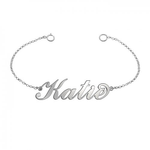name bracelet in 925 sterling silver