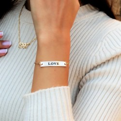 Engraved bar bracelet - 925 sterling silver
