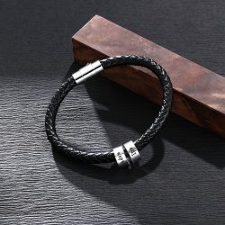 sterling silver men bracelet with custom beads