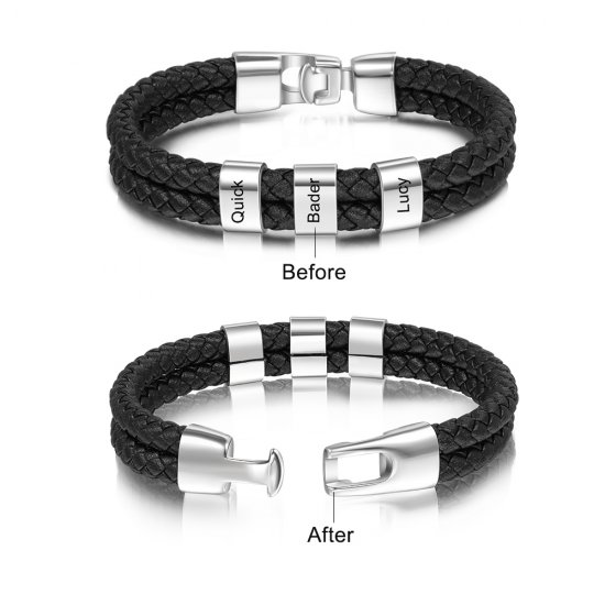 engraved man bracelet