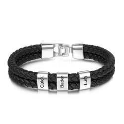 engraved man bracelet