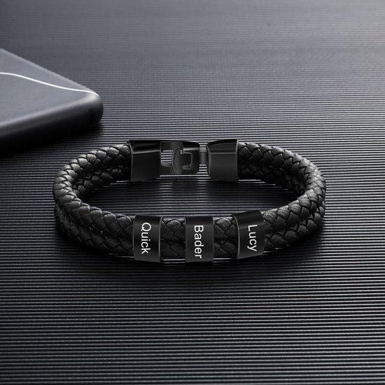 engraved black bracelet
