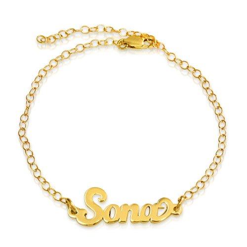 18K Gold Plated Name Bracelet