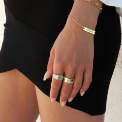 Bar Bracelet 18K Gold Plating