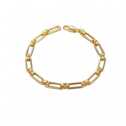 gold plated paperclip bracelet