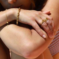 paperclip bracelet - 18k gold plated
