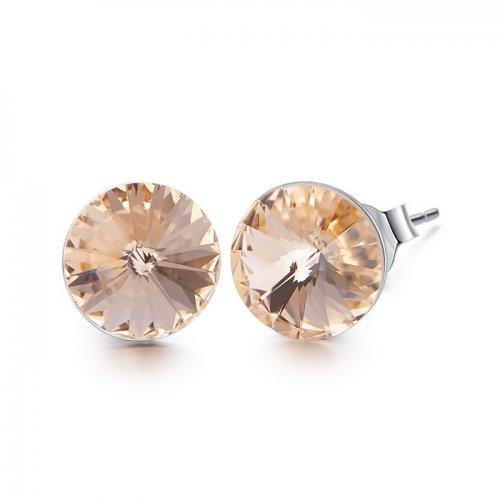 Crystals from Swarovski stud earrings - peach