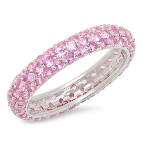 steling silver zirconia ring - light pink