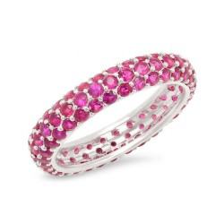Sterling silver ruby zirconia ring