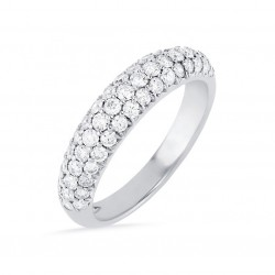 Three row micro pave eternity band 925 sterling silver