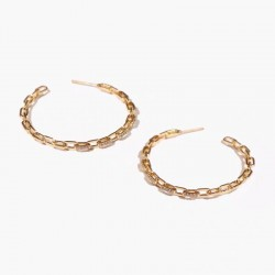 gold plated hoop earrings with cubic zirconia